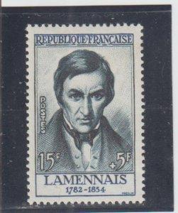 France  Scott#  B315  MH  (1957 Hughes Felicite Robert de Lamennais)