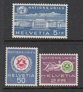 Swiss UN Issue #7o33, 38-39 NICE!! (Mint NEVER HINGED) cv$6.50