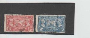 France  Scott#  243-244  Used  (1927 American Legionnaires)