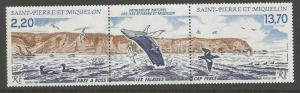 ST PIERRE & MIQUELON 506-507, 507a MNH ROSS COVE PAIR WITH LABEL