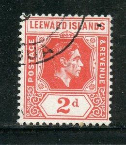 Leeward Islands # 123, Used. CV $ 1.25