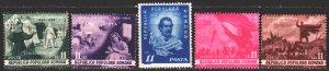 Romania. 1950. 1196-1200. In memory of Mihai Eminescu. MLH.
