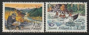 1983 Finland - Sc 675-6 - used VF - 2 single - Nordic cooperation