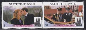 Tuvalu - Vaitupu # 66, Royal Wedding of 1986, NH