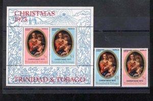 024054 Painting set+S/S TRINIDAD CHRISTMAS MNH#24054