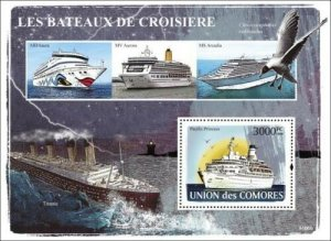 Comoro Islands MNH S/S The Love Boat Cruise Ships 2008