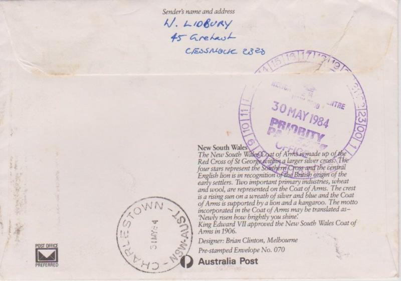 Australia 1984 Priority Mail Cover