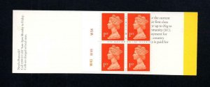 4x 1st NVI BARCODE BOOKLET TYPE 7(10)A PLATE W43 W49 W54 MCC £65