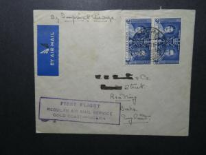 Gold Coast 1932 First Flight Cover to UK / Light Creasing - Z12518