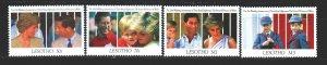 Lesotho. 1991. 920-23. Princess Diana. MNH.