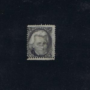 SCOTT# 85B USED 2 CENT JACKSON GRILL LIGHT CANCEL, SOUND, 1868