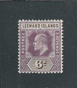 LEEWARD IS 1905-08 6d DULL PURPLE & BROWN MM SG 34 CAT £55