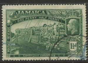 Jamaica -Scott 90 - KGV Pictorial Definitive -1921 - Used - Single 1.1/2p Stamp