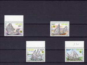 Viet Nam 1999 Sc#2875/2878 Sailing Vessels Australia'99 Set (4) MNH