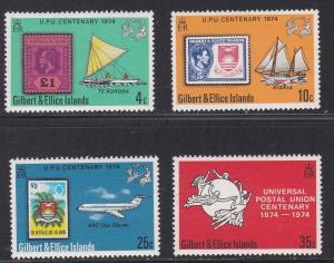 Gilbert & Ellice Islands # 226-229, UPU Centennial, NH, 1/2 Cat.