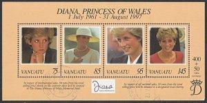 VANUATU 1997 Princess Diana souvenir sheet fine used........................A268