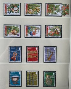 JE88) Jersey 2011 Christmas set of 6 & Music set of 6 MUH