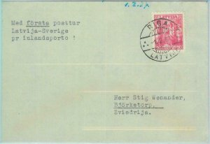 89690 - LATVIA - Postal History - FIRST FLIGHT  Riga - Stockholm SWEDEN 1937