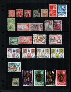 Bermuda  26  different  mint hinged and used