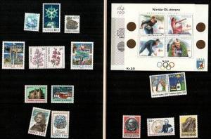 Norway Scott 881,883b,954,970-1,975-87 Mint NH (CV $67.50) - 1990 Year Pack