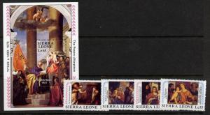 Sierra Leone 944-8 MNH Christmas, Art, Paintings