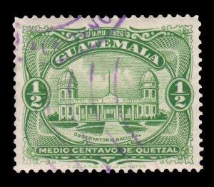 GUATEMALA STAMP 1929 SCOTT # 233. USED. # 6