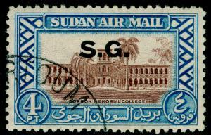SUDAN SGO63, 4p brown & light blue, FINE USED. Cat £11.