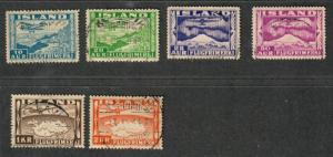 Iceland Sc#C15-20, U/H, Complete Set, CV. $88.50