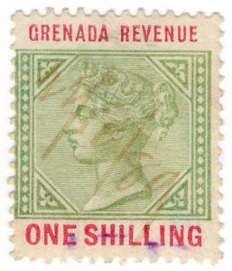 (I.B) Grenada Revenue : Duty Stamp 1/- (1884)