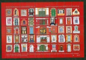 Denmark. Christmas Sheet.1996. Mnh. Kalundborg. Old Doors,Windows