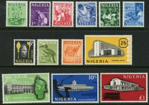NIGERIA Sc#101-113 SG#99-101 1961 Definitive Set Complete OG Mint NH