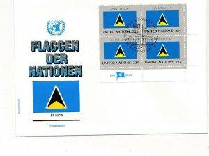 D112831 Flag Series Saint Lucia FDC United Nations New York Bureau