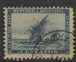 ARGENTINA 91 USED DISCOVERY OF AMERICA