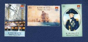 KIRIBATI - Scott 872-874- FVF MNH - Battle of Trafalgar - ships - 2003
