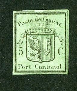 Switzerland Stamps # 2L3 VF OG H Scott Value $2,350.00