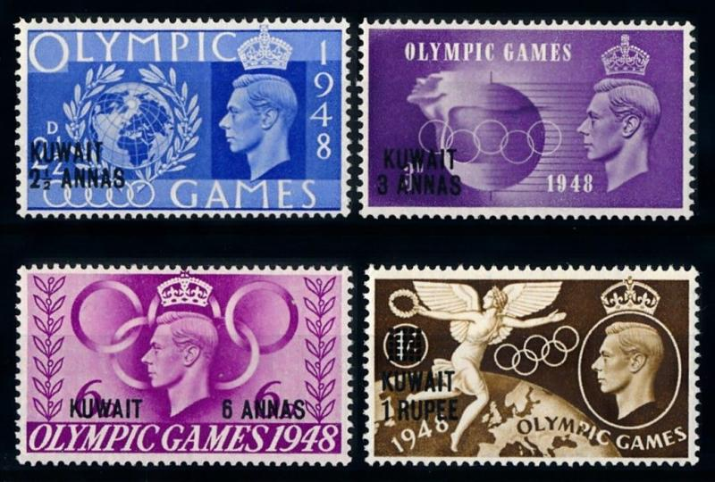 [68339] Kuwait 1948 Olympic Games OVP on GB Stamps MLH