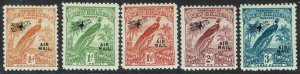 NEW GUINEA 1931 DATED BIRD AIRMAIL 1/2D TO 3D