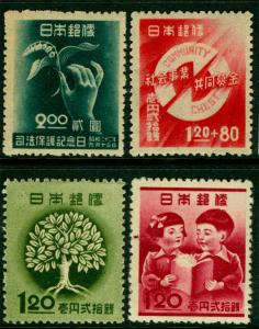 Japan 1947/1948  - 4 COMMEMORATIVE issues - MINT MNH