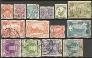 1954 Burma(Myanmar) Scott 139-152 Life in Burma used