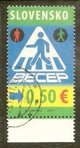 Slovakia   Scott 780   Traffic Safety     Used