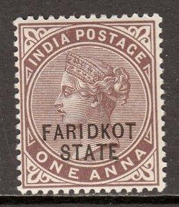 India (Faridkot) - Scott #5 - MH - SCV $2.25