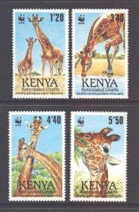 Kenya Scott 199/202 - SG212/215, 1981 Rare Animals Set MH*