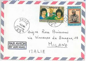 FOOTBALL  - POSTAL HISTORY : TCHAD - COVER to ITALY 1984