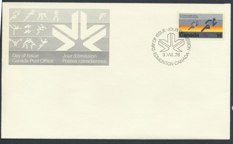 FDC  SG 919 SC# 760 SPECIAL - please read details - Edmonton Games