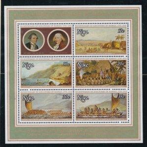 NIUE ^^^^^^^^1978  MNH   Souv/sheet ( HAWAII  discovery)    $$@sc612xxbait