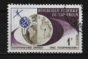 Cameroon 1963 1st TV connection between the US and Europe 1F (1/4) USED