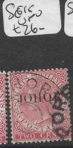 MALAYA JOHORE (P0501B) QV 2C  SG 15   VFU