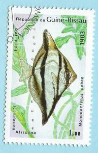 Guinea-Bissau Scott #498 Local Fish CV $0.20 CTO NH