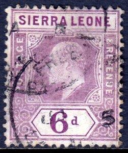 Sierra Leone - Scott #98 - Used - Light crease - SCV $9.00