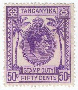(I.B) KUT Revenue : Tanganyika Stamp Duty 50c